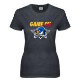 Ladies Dark Heather T Shirt-Game On