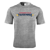 Performance Grey Heather Contender Tee-Word Mark
