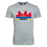 Next Level SoftStyle Heather Grey T Shirt-Cityscape