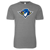 Next Level SoftStyle Heather Grey T Shirt-Thunderbird Head