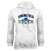White Fleece Hoodie-Arched Established Date