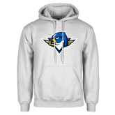 White Fleece Hoodie-Thunderbird Head