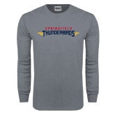 Charcoal Long Sleeve T Shirt-Word Mark