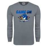 Charcoal Long Sleeve T Shirt-Game On
