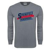 Charcoal Long Sleeve T Shirt-Hockey Banner