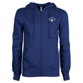 ENZA Ladies Royal Fleece Full Zip Hoodie-Thunderbird Head