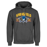 Charcoal Fleece Hoodie-Arched Established Date