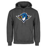 Charcoal Fleece Hoodie-Thunderbird Head