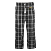 Black/Grey Flannel Pajama Pant-Word Mark