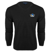 Class Mens V Neck Black Sweater-Primary Mark