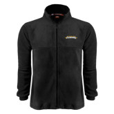 Fleece Full Zip Black Jacket-Word Mark