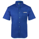Royal Twill Button Down Short Sleeve-Word Mark