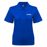 Ladies Easycare Royal Pique Polo-Word Mark