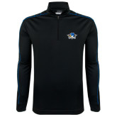Nike Golf Dri Fit 1/2 Zip Black/Royal Cover Up-Primary Mark