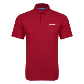 Red Dry Zone Grid Polo-Word Mark