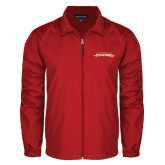 Full Zip Red Wind Jacket-Word Mark