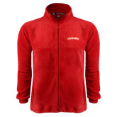 Fleece Full Zip Red Jacket-Word Mark