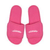 Hot Pink Waffle Slippers-Word Mark
