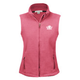 Ladies Fleece Full Zip Raspberry Vest-Primary Mark