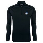 Nike Golf Dri Fit 1/2 Zip Black/Grey Pullover-Primary Mark