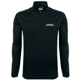 Nike Golf Dri Fit 1/2 Zip Black/Grey Pullover-Word Mark