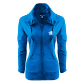Ladies Sport Wick Stretch Full Zip Sapphire Jacket-Primary Mark