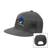 Charcoal Flat Bill Snapback Hat-Primary Mark