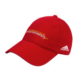 Adidas Red Slouch Unstructured Low Profile Hat-Word Mark