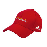 Adidas Red Structured Adjustable Hat-Word Mark
