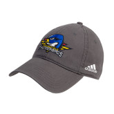 Adidas Charcoal Slouch Unstructured Low Profile Hat-Primary Mark