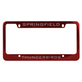 Metal Red License Plate Frame-Springfield Thunderbirds
