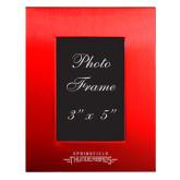 Red Brushed Aluminum 3 x 5 Photo Frame-Word Mark Engraved