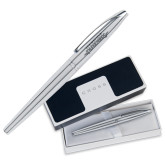 Cross ATX Pure Chrome Rollerball Pen-Word Mark Engraved