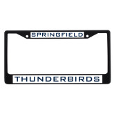 Metal License Plate Frame in Black-Springfield Thunderbirds