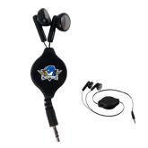 Black Retractable Ear Buds-Primary Mark