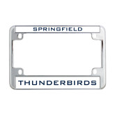 Metal Motorcycle License Plate Frame in Chrome-Springfield Thunderbirds