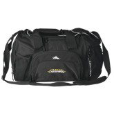 High Sierra Black Switch Blade Duffel-Word Mark