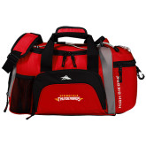 High Sierra Red/Black Switch Blade Duffel-Word Mark