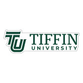 Large Decal-TU with Tiffin Universrity Horizontal, 12 inches wide