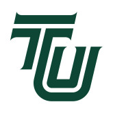 Small Decal-University TU, 6 inches tall