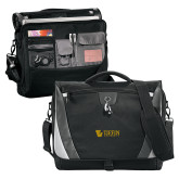 Slope Black/Grey Compu Messenger Bag-TU with Tiffin Universrity Horizontal