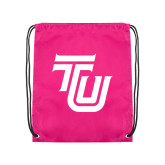 Pink Drawstring Backpack-University TU