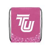 Nylon Pink Bubble Patterned Drawstring Backpack-University TU