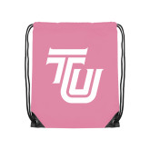 Light Pink Drawstring Backpack-University TU