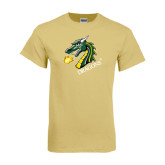 Champion Vegas Gold T Shirt-Dragon with Text