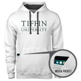 Contemporary Sofspun White Hoodie-Tiffin University