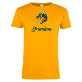 Ladies Gold T Shirt-Grandma