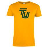 Ladies Gold T Shirt-University TU