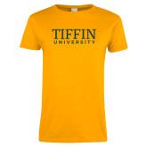 Ladies Gold T Shirt-Tiffin University