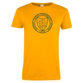 Ladies Gold T Shirt-University Seal